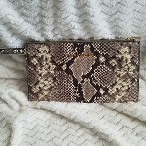 Michael Kors Python Embossed Clutch
